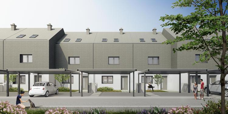 Hiše v primestju Ljubljane