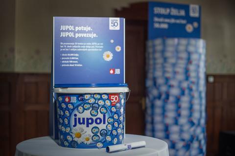 Blagovna znamka Jupol v praznovanju 50. rojstnega dne