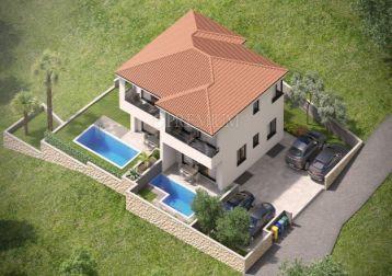 Dvojček hiša z bazenom