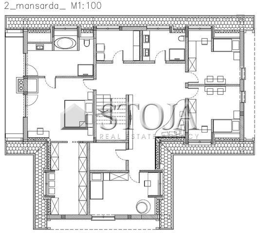 First floor with 4 bedrooms, 2 bathrooms, 2 walk in wardrobes + utility